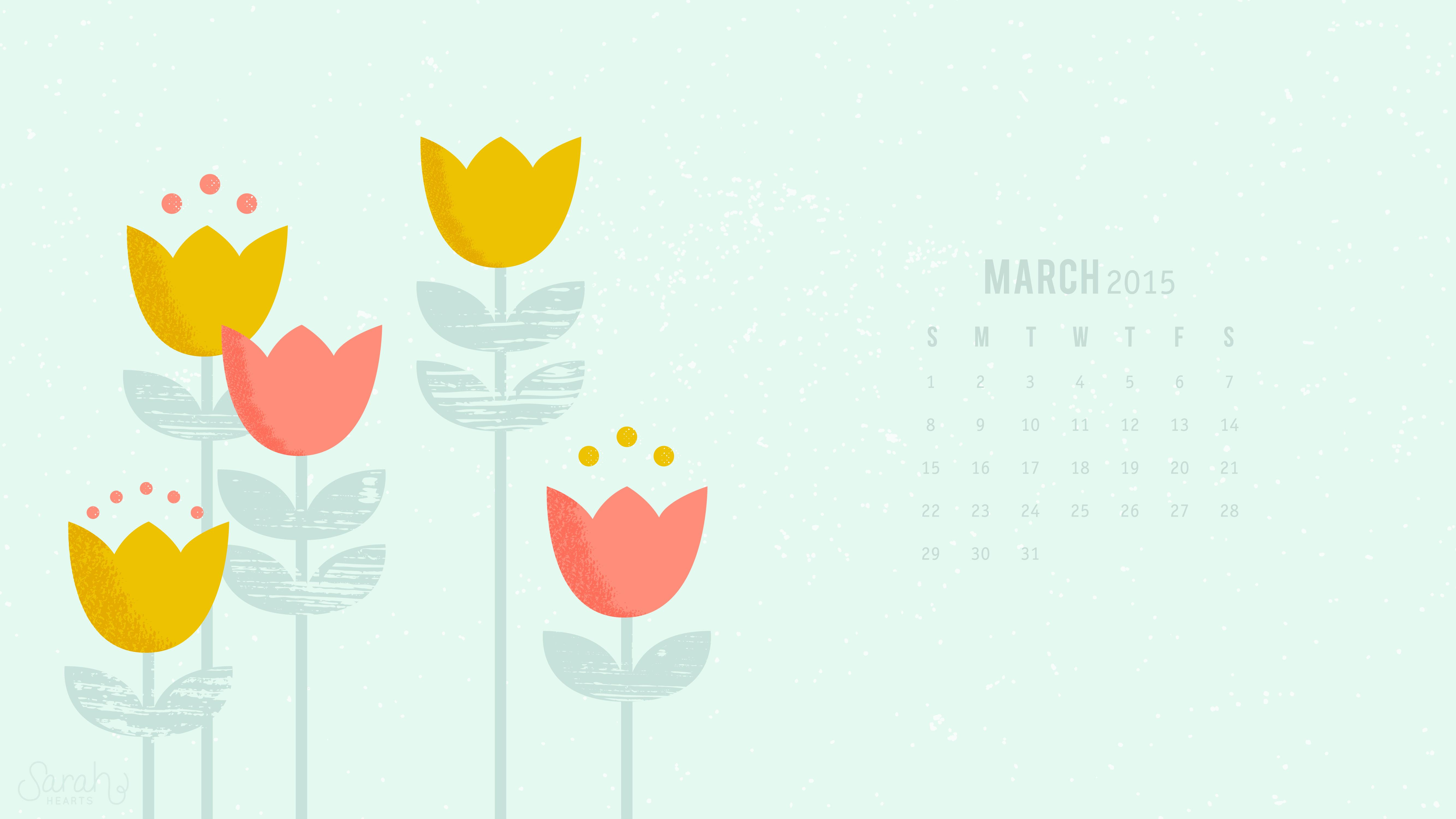 March 2015 Calendar Wallpaper