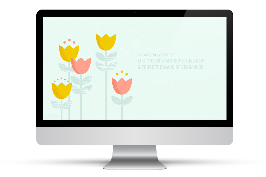Add some spring time beauty to your desktop with this inspirational wallpaper. Available for iPhone and iPad too!