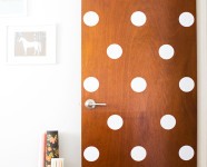 DIY Polka Dot Door
