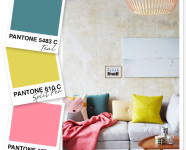 Teal, Yellow Green and Pink Color Palette