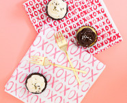 DIY XO Painted Cloth Napkins