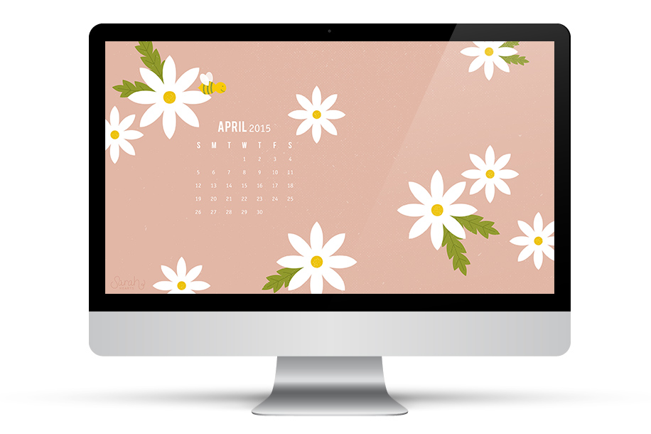 Dress up your desktop with daisies and always have a calendar at hand with this fun free downloadable wallpaper. Click through to download it for your computer, phone or tablet.