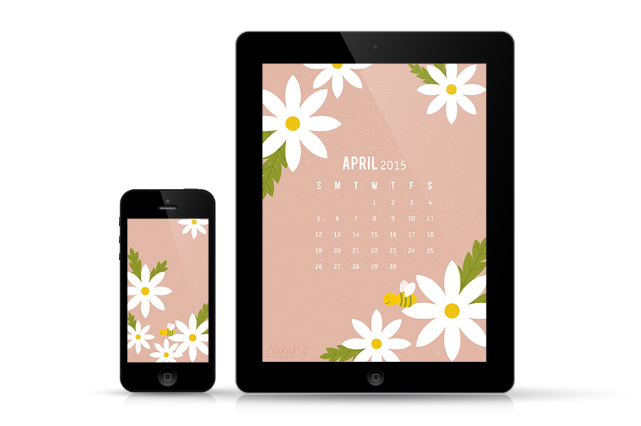 Dress up your devices for spring with this adorable daisy wallpaper!