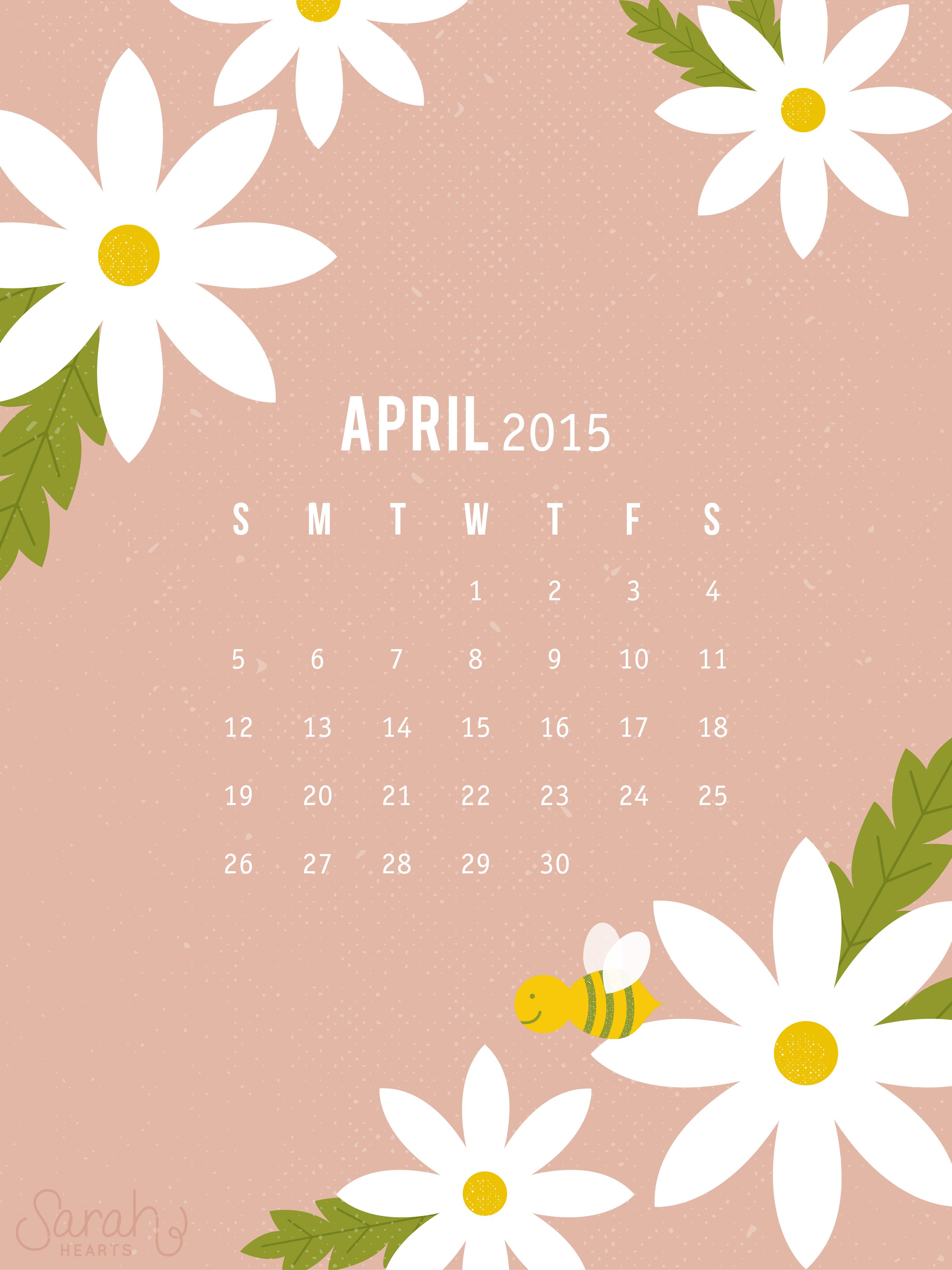 April Calendar Desktop Wallpaper : April calendar wallpaper sarah hearts