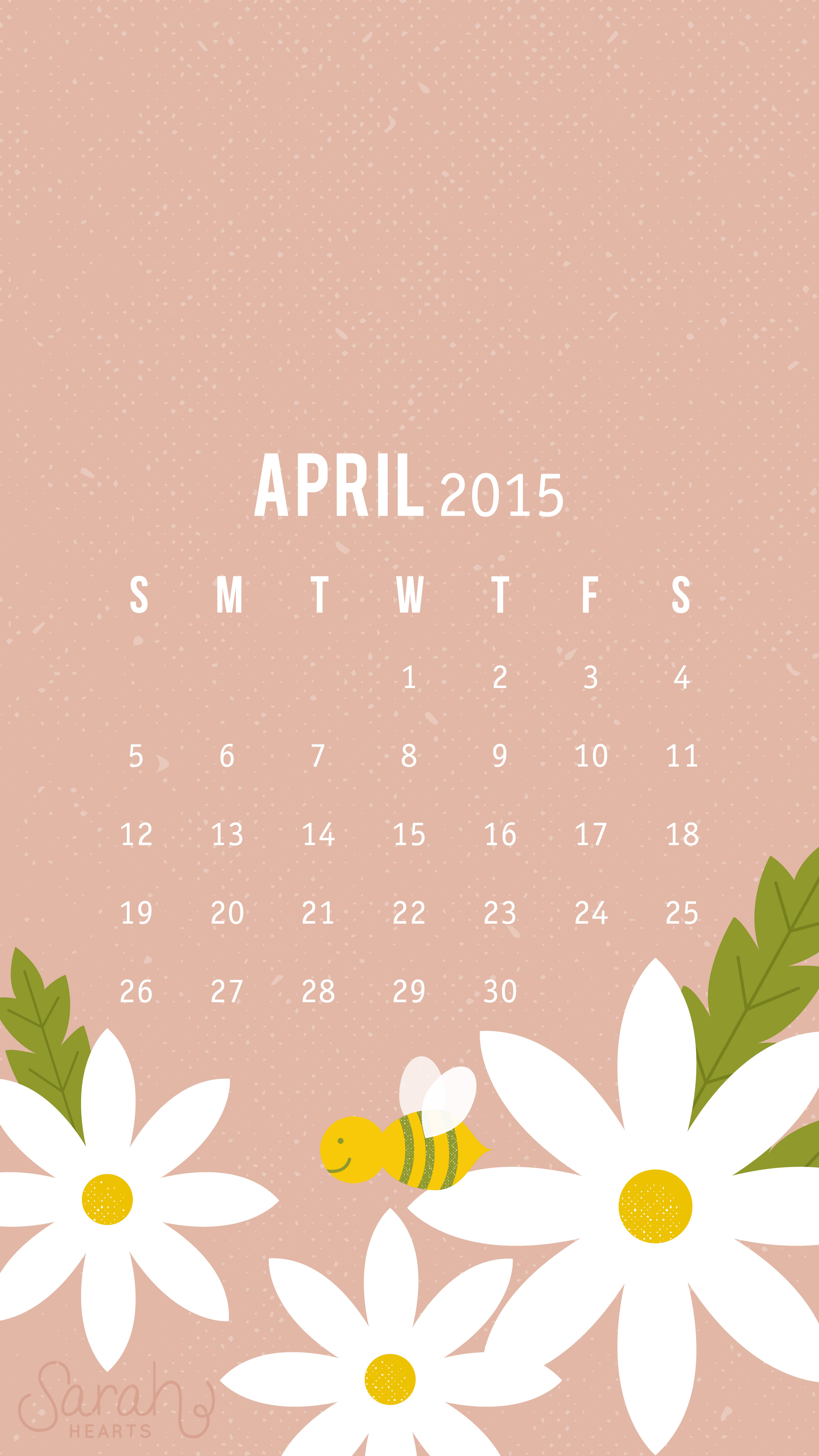 april 2015 calendar wallpaper - sarah hearts