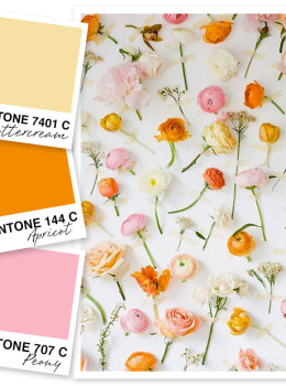 This soft color palette of yellow, orange and pink is so perfect for spring.