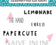 Best Handwritten San Serif Fonts