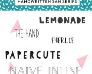 Best Handwritten San Serif Fonts