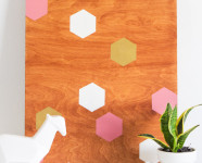 DIY Geometric Wood Panel Wall Art