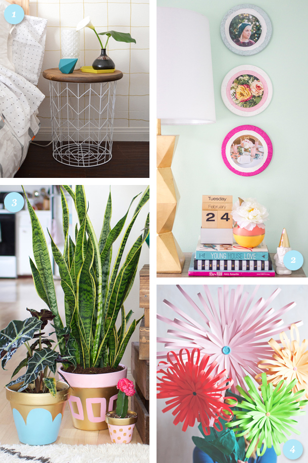 Wondering how to make your home ready for spring? Try one of these simple DIY projects to add some bright, spring color to your home!