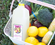 DIY Color Blocked Farmer's Market Basket