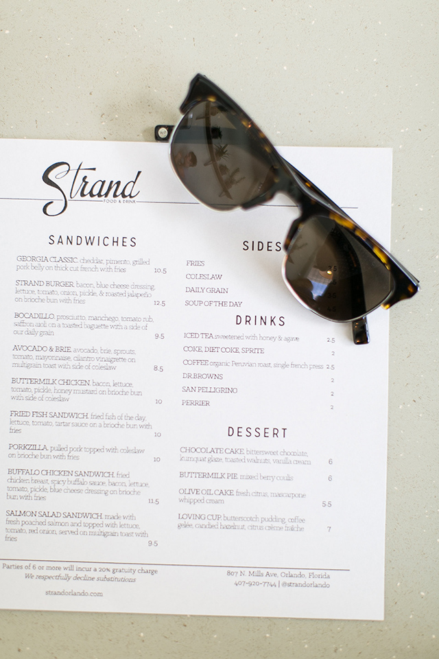 The Strand, a farm-to-table eatery in the Mills 50 neighborhood of Orlando serves a different fresh menu for lunch and dinner daily. Make sure you save room for dessert and try their daily grain.