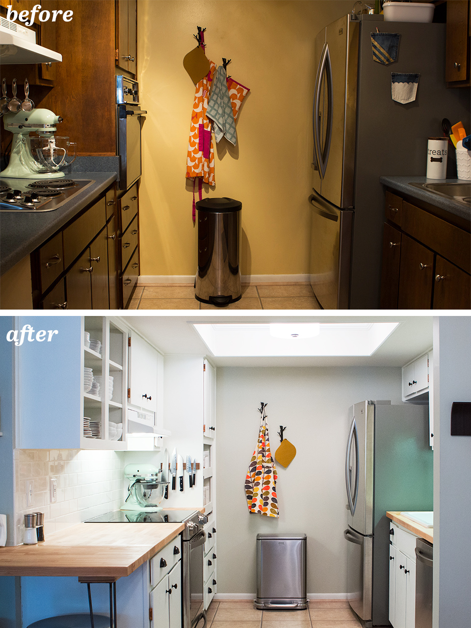 Galley Kitchen Before And After Diy Small Galley Kitchen Remodel  Sarah Hearts