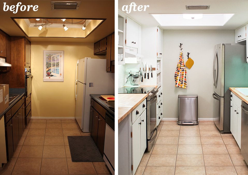 diy small galley kitchen remodel - sarah hearts