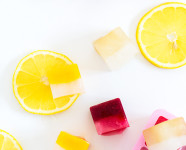 Layered Lemonade Ice Cubes