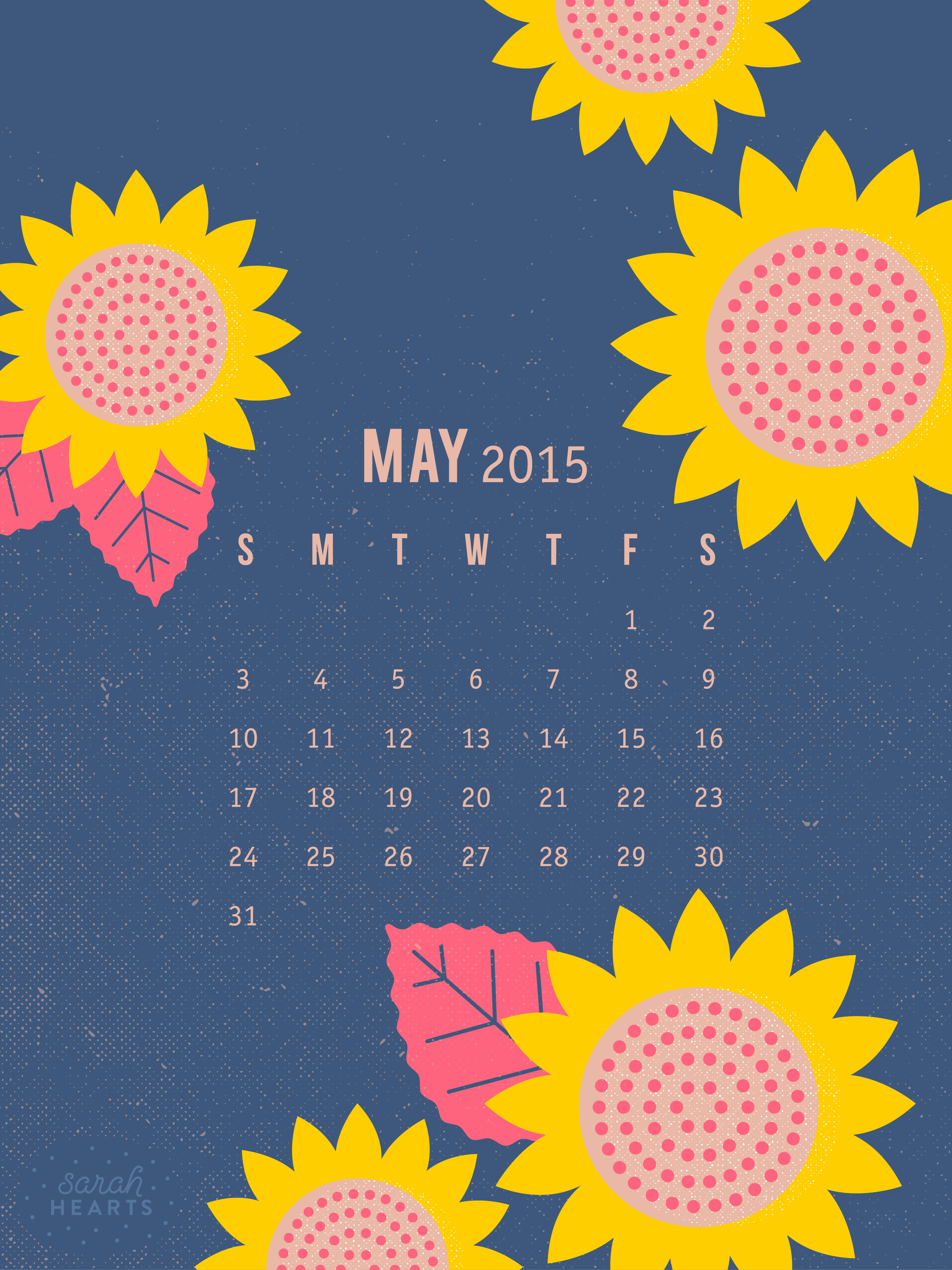 Calendar Wallpaper May : May calendar wallpaper sarah hearts
