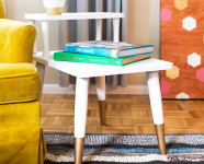 Mid Century Modern Side Table Makeover