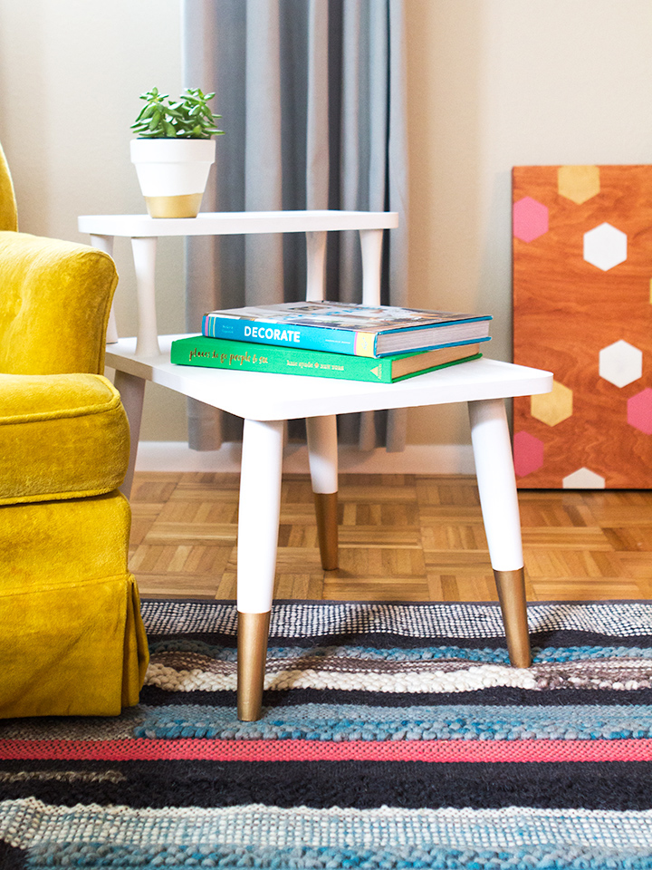 Mid Century Modern Side Table Makeover Sarah Hearts