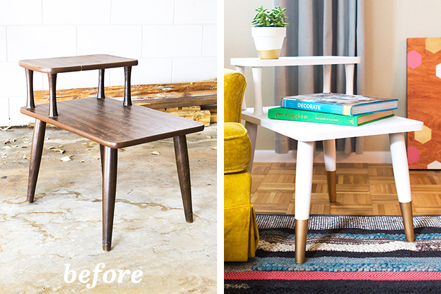 Loving This Before And After Of A Mid Century Side Table. Such A Simple