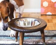 DIY Mid Century Dog Bowl Stand