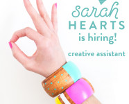 Sarah Hearts is Hiring! – Creative Assistant
