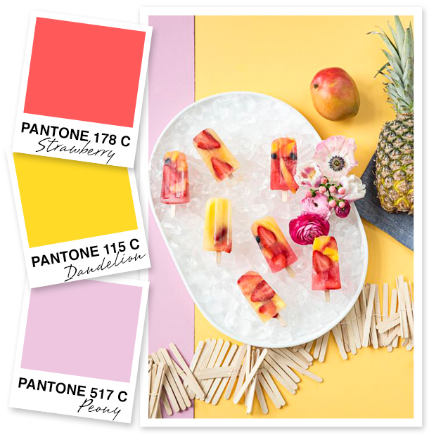 This warm color palette is perfect for adding a touch of summer to any room, party, or outfit!