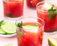 #Punch4Everybody: Spiked Watermelon Mint Agua Fresca Punch