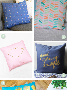 Have a plain pillow cover? Check out these 5 awesome tutorials on how easily make it into something new (click through for links to each tutorial)