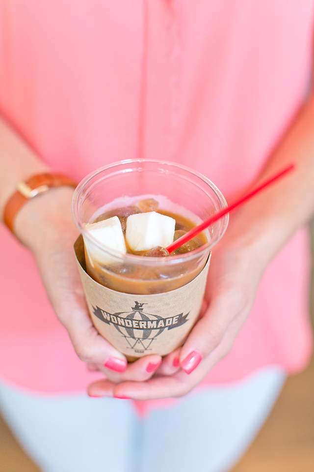Iced coffee with bourbon marshmallows sounds so delicious! Click through for more details about Wondermade's marshmallow shop.