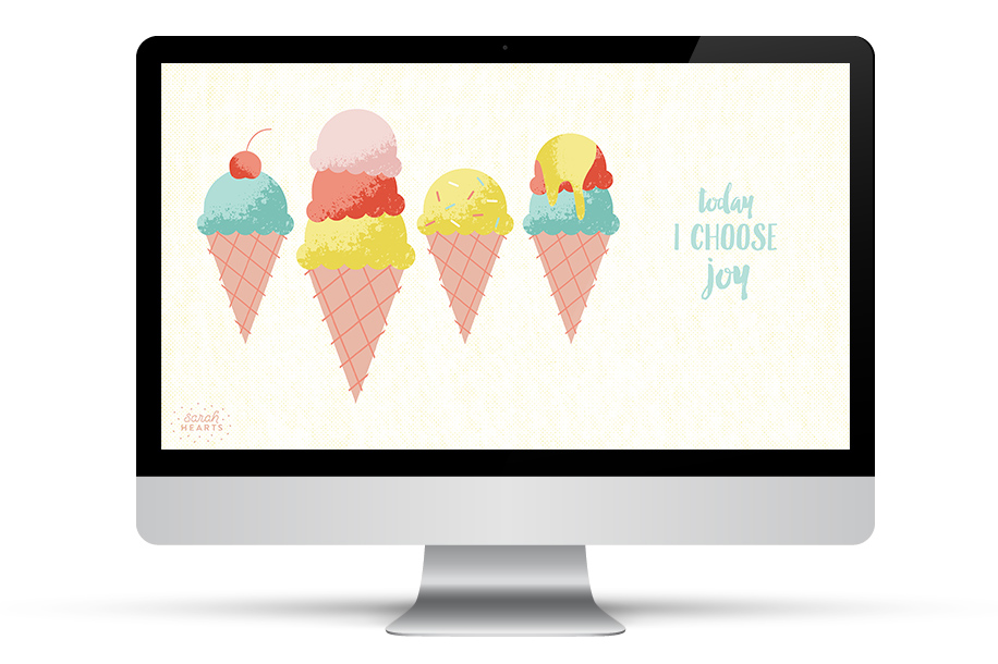 Today I choose joy. Such a great reminder on this cute wallpaper! Click through to download it for all your devices.
