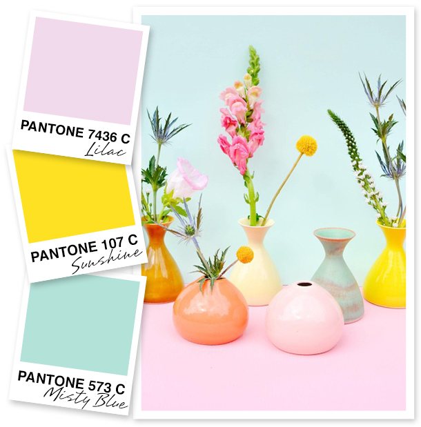 I think it may be impossible to look at these colors and not feel happy! I can't think of a more perfect palette for my next summer get together.