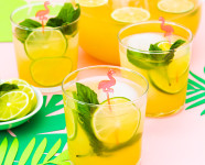 #Punch4Everybody: Tropical Fruit Basil Punch
