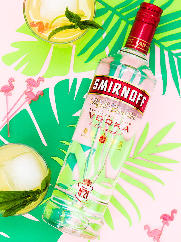 Combine Smirnoff 21 with tropical fruit and basil to make a delicious punch!