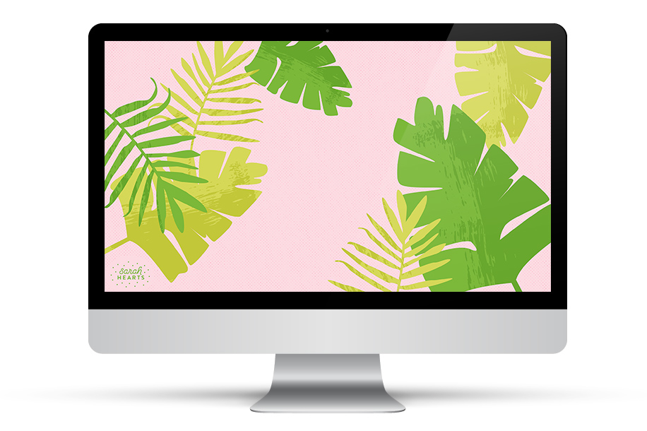 Loving this pretty palm wallpaper! It's free to download for all your devices.