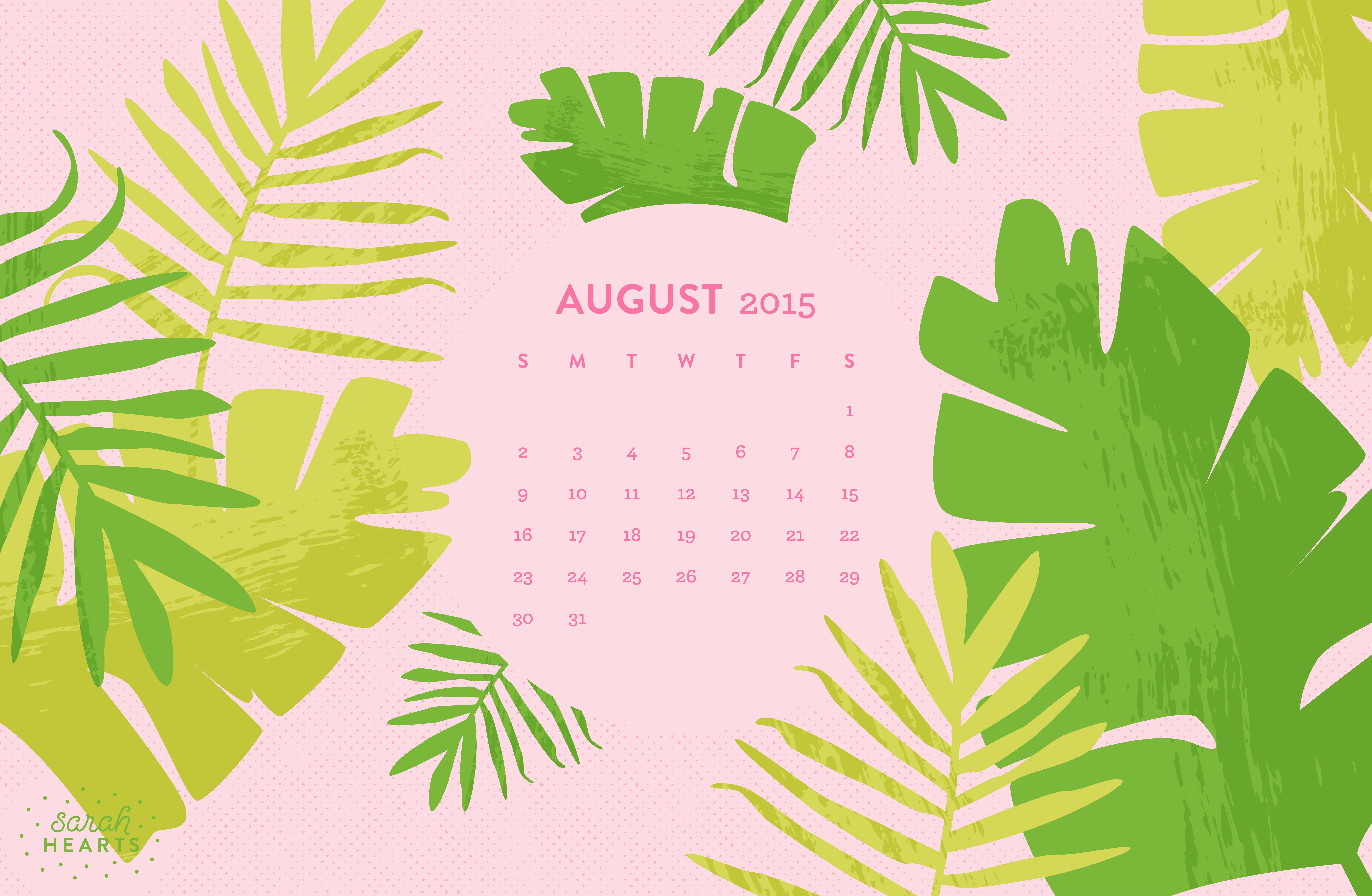 Calendar On Wallpaper Mac : August calendar wallpaper sarah hearts