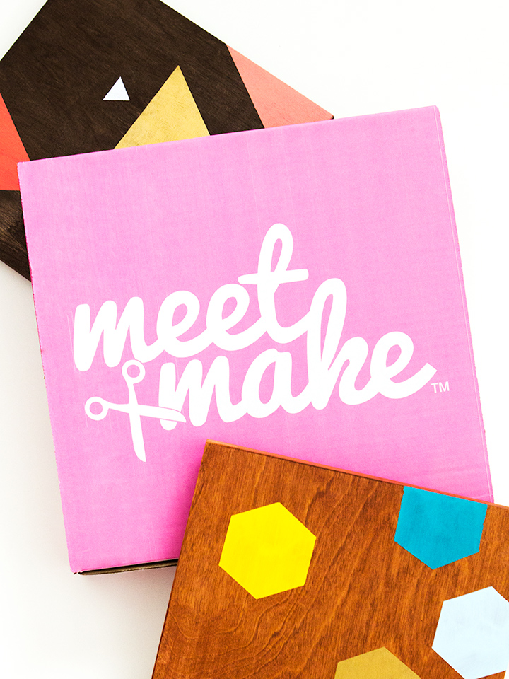 Ever wanted to attend a Meet and Make? Now you can with Meet and Make boxes! The kits come with everything you need to make your own DIY project. Perfect for hosting a girls night at home or as gifts.