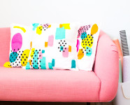 Easy Abstract Painted Throw Pillows