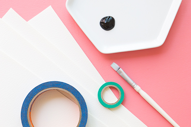 Cut down vinyl pleather to create these DIY grid placemats.