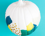 DIY Decoupage Tissue Paper Pumpkin