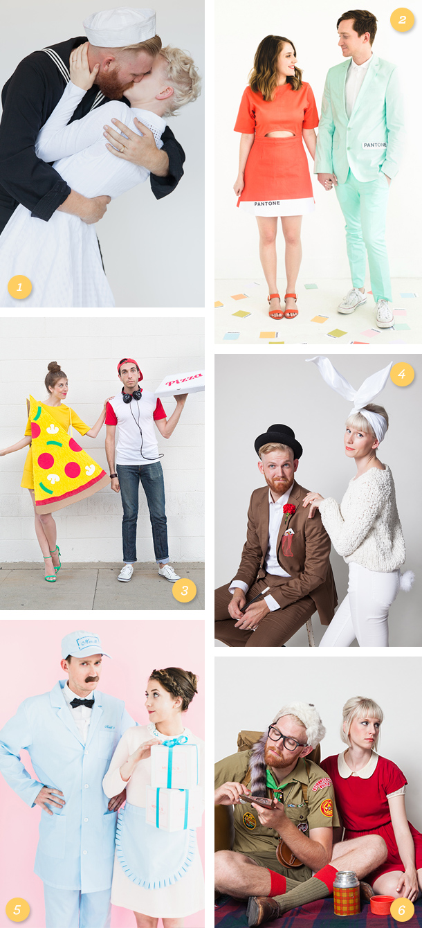 Here are some great easy to DIY or buy couples Halloween costume ideas! (Click through for a details to each costume)