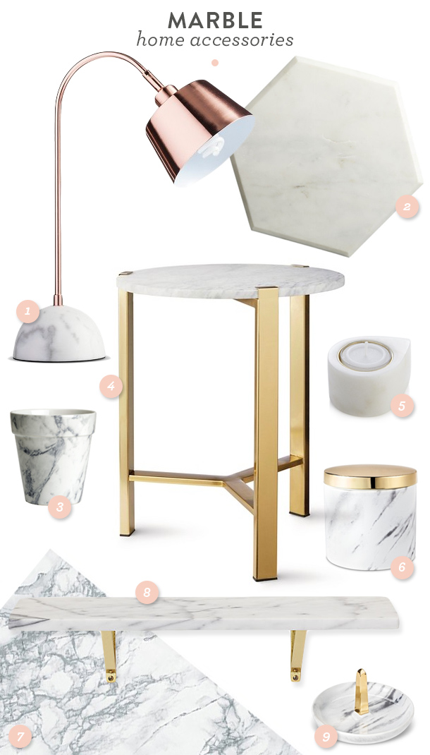 Trend Marble Home Accessories Sarah Hearts
