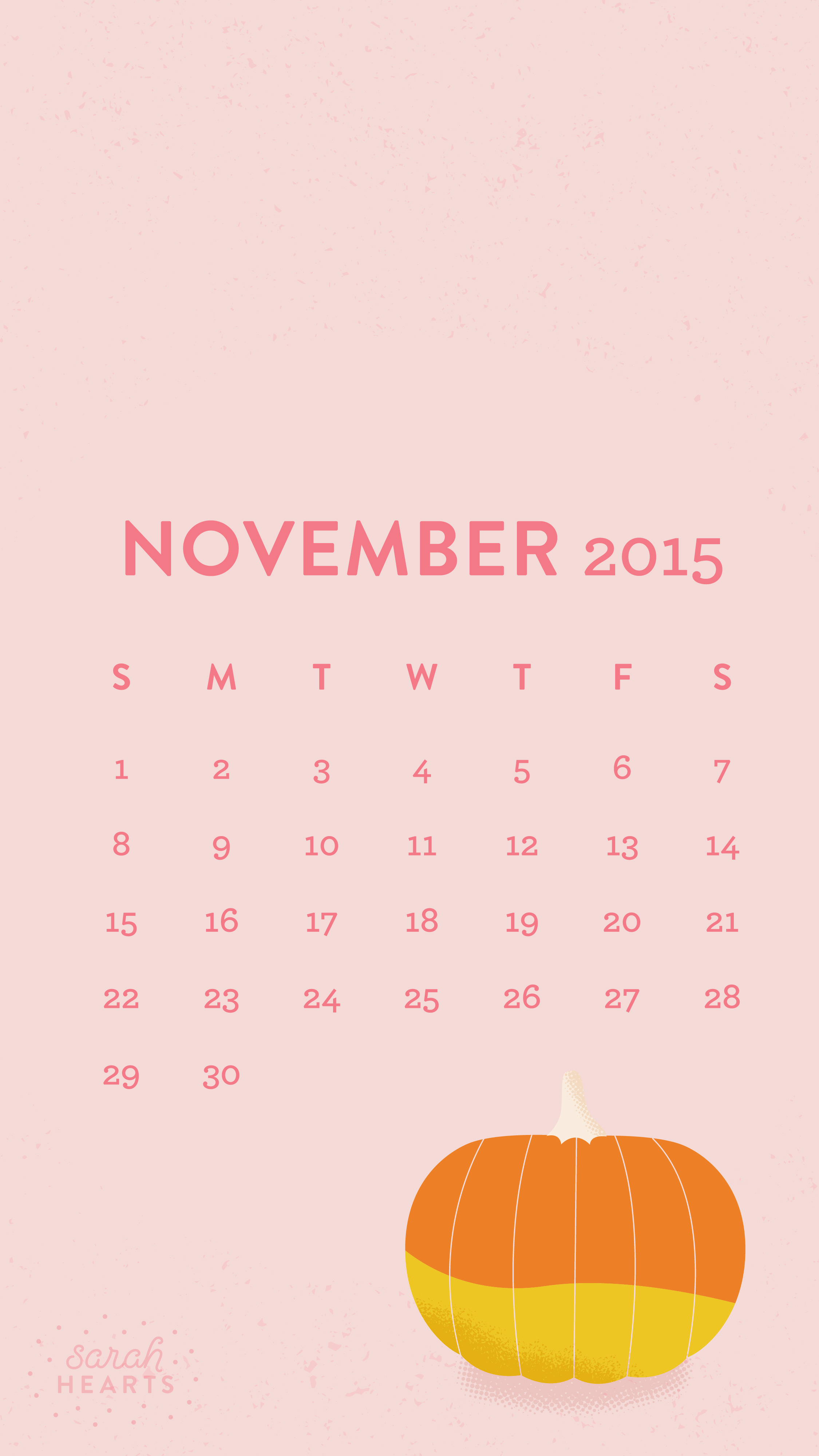 Iphone Calendar Wallpaper November : November calendar wallpaper sarah hearts
