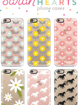 Loving these cute horse and floral print iPhone cases! They are available for every model of the iPhone, including the 6s and 6s Plus, and even androids.