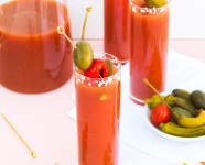 Spicy Blood Mary Recipe and DIY Tassel Napkins