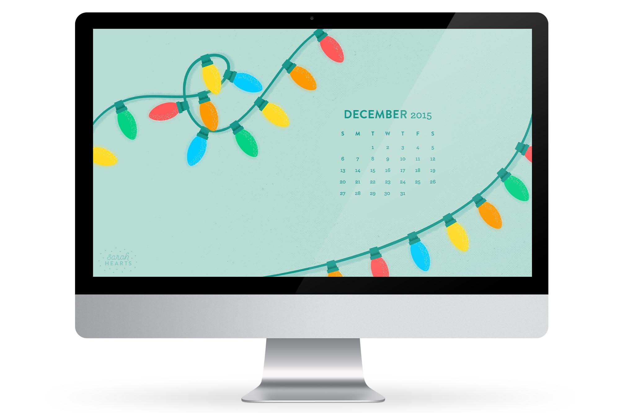 Tablet Calendar Wallpaper : December calendar wallpaper sarah hearts
