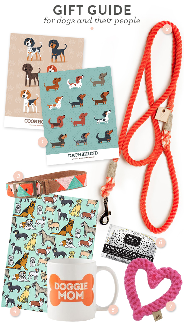 Here are some great stylish and affordable gift ideas for dogs and their owners! (Click through for direct links to each item)