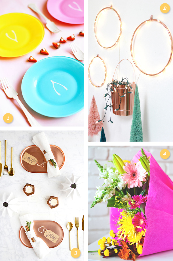 Add color to your Thanksgiving table and decor with these fun DIY projects!