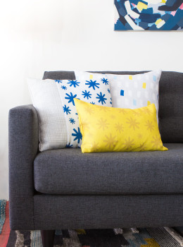 Learn how to create throw pillow covers without messing with zippers! Made with @zazzle custom printed fabric (Click through for tutorial)