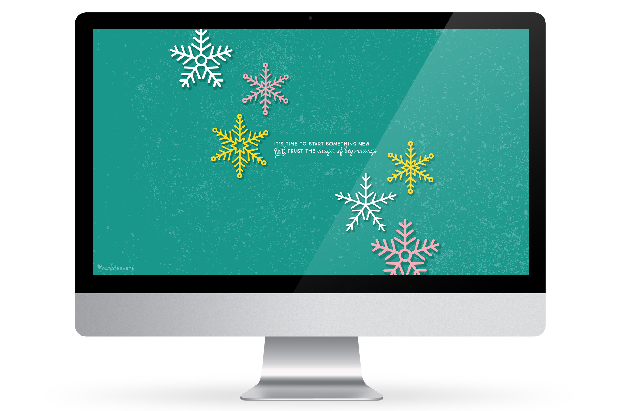Celebrate winter on your devices with this free snowflake wallpaper!