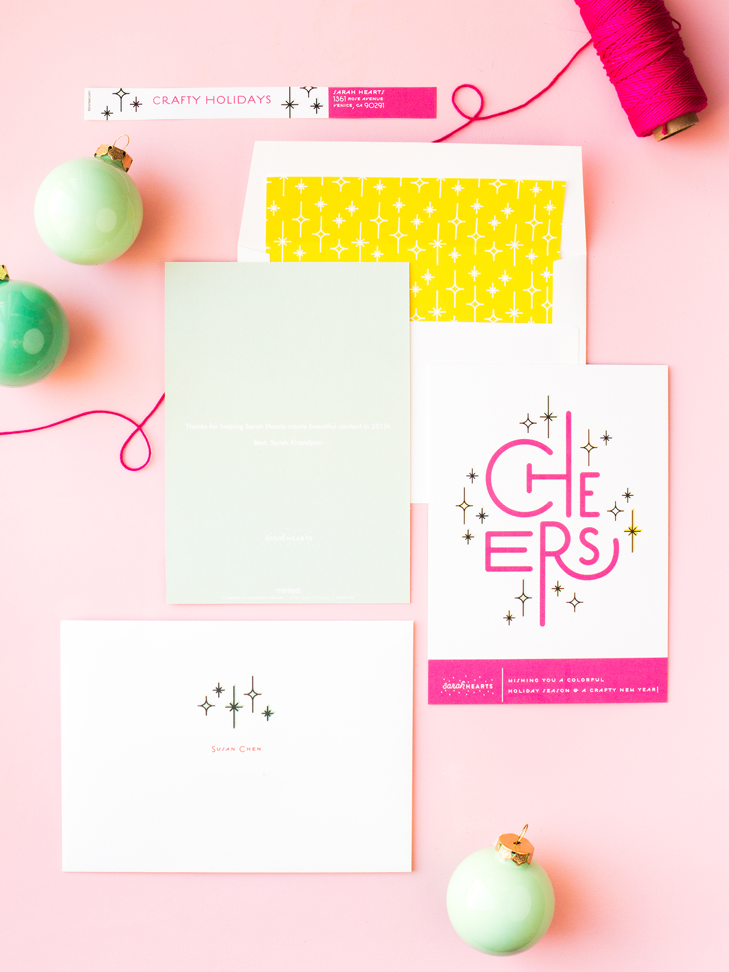 Create custom holiday cards for your small business or blog this Christmas to say thanks to your clients, sponsors, and friends for making it a great year!